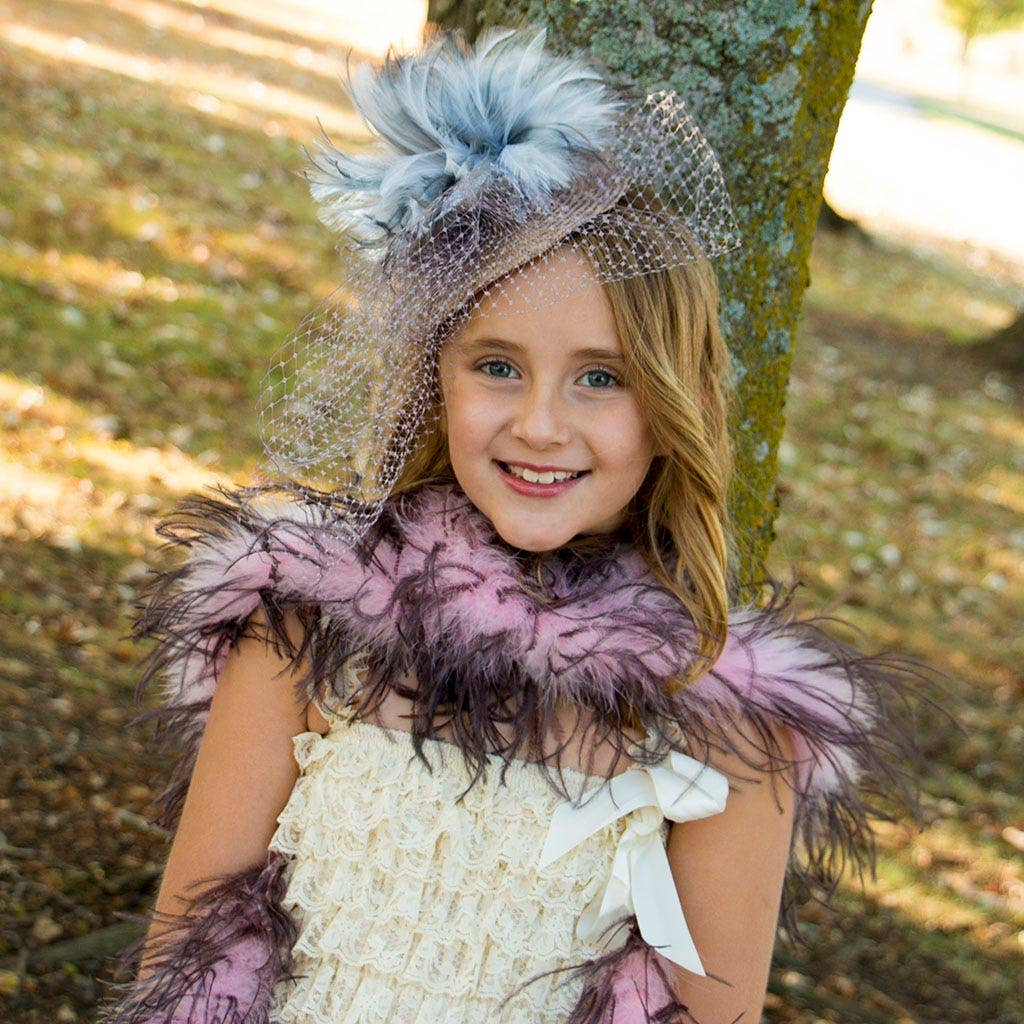 tea party feather accessories